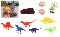 Kit 10 peças Dinossauro Incríveis e Acessórios - Wellmix