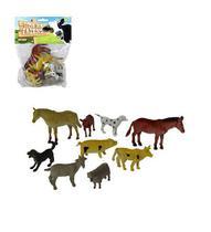 Kit 10 peças vida na fazenda -10 animais de borracha sortidos - Ark Toys