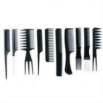 Kit 10 pentes de corte cabeleireiro barbeiro profissional suporta calor - Pentes De Cortes
