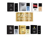 Kit 10 perfumes masculino paris riviera 30ml importado -