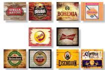 Kit 10 Placas Decorativas Tema Cerveja 19x28cm - 2 - Ofertmix