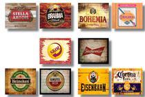 Kit 10 Placas Decorativas Tema Cerveja 19x28cm - OfertMix -