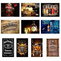 Kit 10 Placas Decorativas Tema Whisky 19x28cm - OfertMix -