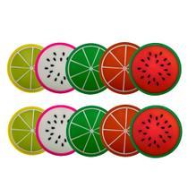 Kit 10 Porta Copos Formato De Fruta Suporte Descanso Modelos Sortidos - Universal Vendas