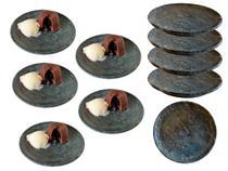 Kit 10 pratos de pedra sabão ideal para sobremesas 15 centímetros - Bras Art