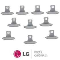 KIT 10 Puxadores da Porta MEB61281101 Lavadora e Lava e Seca LG WD-1403FD, WD-1403RD, WD-1409RD -
