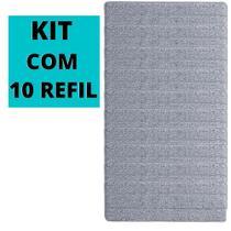 Kit 10 Refil Microfibra Mop Flat Esfregão Boni - 123 ÚTIL