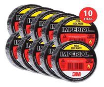 Kit 10 Rolos Fita Isolante Anti-chamas 10m - 3m Imperial -