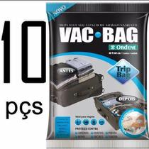 Kit 10 Saco a Vácuo Protetor e Organizador TRIP BAG 60 X 40 Ordene -