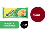 Kit 10 Salgadinhos Torcida sabor pimenta mexicana 70g - Lucky -