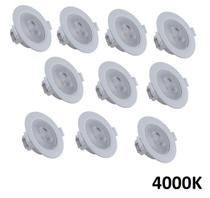 Kit 10 Spot Led 5W 4000K Embutir Branco Neutro Direcionável Redondo - Startec & Co.