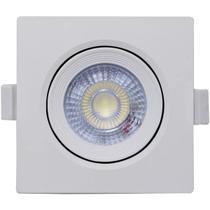 Kit 10 Spot Led Embutir 5w Direcionavel Quadrado Luz Fria 6500k Avant -