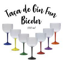 Kit 10 Taças De Gin Fun 550 Ml De Acrílico - Diversas Cores - Fantastic Brindes