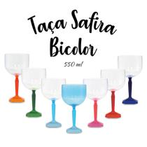 Kit 10 Taças De Gin Safira 550 Ml Acrílico - Diversas Cores - Fantastic Brindes