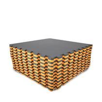 Kit 10 Tapete Eva Tatame 50x50 20mm Bicolor Preto/laranja - Yupitoysmax