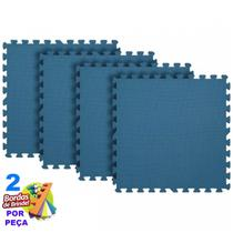 Kit 10 Tapete Eva Tatame Azul Marinho Bebê Infantil 50x50x10mm - Yupitoys Max