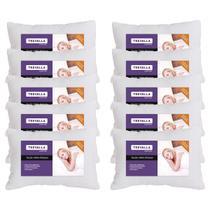 Kit 10 Travesseiros Trevalla Confort Em Microfibra Branco -