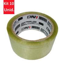 Kit 10 Unidades - Fita para embalagem Cristal 50m - DNI 5021 -