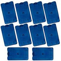 Kit 10 Unidades Gelo Artificial Reutilizavel 17x10 Cm Plastico Reciclavel  Gelbrix -