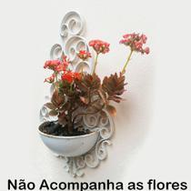 Kit 10 Vasos Arandela Plástico Plantas Colonial Suspenso Decorativo Horta Enfeite Jardim Cor: Branca - Comercial montani ltda me