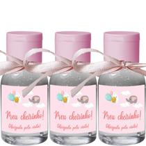 Kit 100 Lembrancinhas Maternidade Menina Álcool Em Gel-Fixo - ClickStock