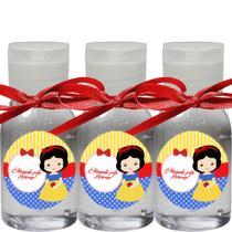 Kit 100 Mini Álcool em Gel Lembrancinhas Tema Princesas - Click Aroma