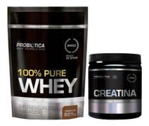 Kit 100% Pure Whey Refil 825g + Creatina pura 300g Oferta. - Probiotica