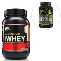 Kit 100% Whey Gold Standard 2 Lbs - Optimum Nutrition + BCAA Wild 100 Tabs Military Trail  Midway