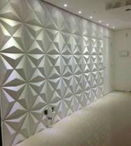 Kit 10M² Revestimento 3D De Parede Mod Estrelar Placas 50X50 - Lu Jpdecoracoes