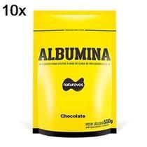 Kit 10X Albumina - 500g Refil Chocolate - Naturovos -