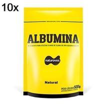 Kit 10X Albumina - 500g Refil Natural - Naturovos -