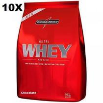 Kit 10X Nutri Whey Protein - 907g Refil Chocolate - IntegralMédica - Integral Médica