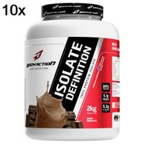 Kit 10X Whey Isolate Definition - 2000g Chocolate - BodyAction