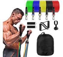 Kit 11 Elástico Para Treino Exercícios Malhar Musculação Casa - Lupan