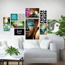 Kit 11 Placas Decorativas Quadros Buda - Mandala - Yoga - Coolforman