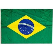 Kit 12 Bandeiras Brasil Grande 60x100 Com Haste - Classe - Nfranca