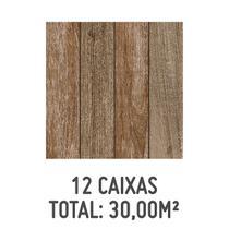 Kit 12 Caixas de Piso Madeiro HD 50x50cm com 2,50m² Marrom - Formigres