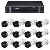 Kit 12 Câmeras de Segurança HD 720p VHL 1120 B + DVR 1116 Intelbras  + Acessórios -
