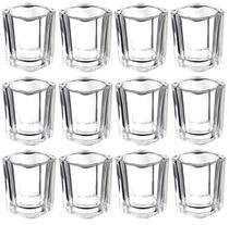 Kit 12 Copo Aperitivo Vaso Castiçal De Vidro Quadrado Vela - Glass Cup