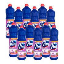 Kit 12 Desinfetantes Vim Multiuso Cloro Gel Lavanda 700ml -