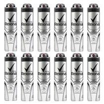 Kit 12 Desodorantes Rexona Men Sem Perfume Aerosol 150ml -