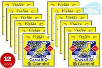 Kit 12 Encordoamentos Violão Nylon Canário Com Bolinha GENWB - Preço de Atacado para revenda! -