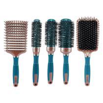Kit 12 - Escovas de cabelo Profissionais 18K -