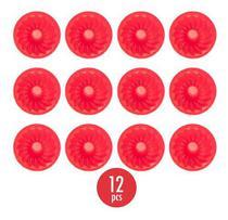 Kit 12 Formas Silicone Mini Pudim Cupcake Bolo Assadeira - Unihome