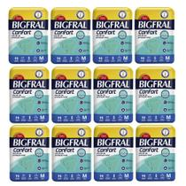 Kit 12 Fraldas BIGFRAL CONFORT MD 96 Unidades - Ontex