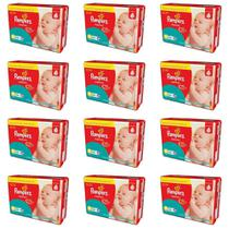 KIT 12 FRALDAS PAMPERS SUPERSEC P 34 unidades