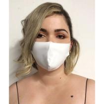 Kit 12 Máscaras Brancas em tecido Neoprene - Scápole