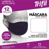 Kit 12 Máscaras Trifil Infantil de Proteção Facial Antiviral W06110 -
