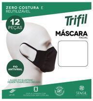 Kit 12 Máscaras Trifil Zero Costura Dupla Camada W06103 -
