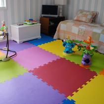 Kit 12 Pçs Tapete De Eva Tatame Escolar Infantil 50x50 10mm +  24 bordas - Yupitoys Max